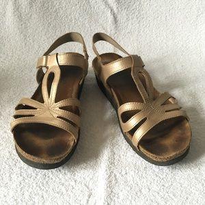 Naot Rachel Gold Walking Sandals